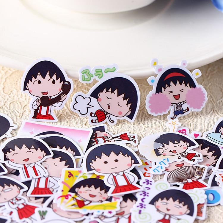 40pcs Kawaii Self-made Sakura Momoko Emoji Stickers /decorative Sticker /DIY Craft Photo Album/scrapbooking