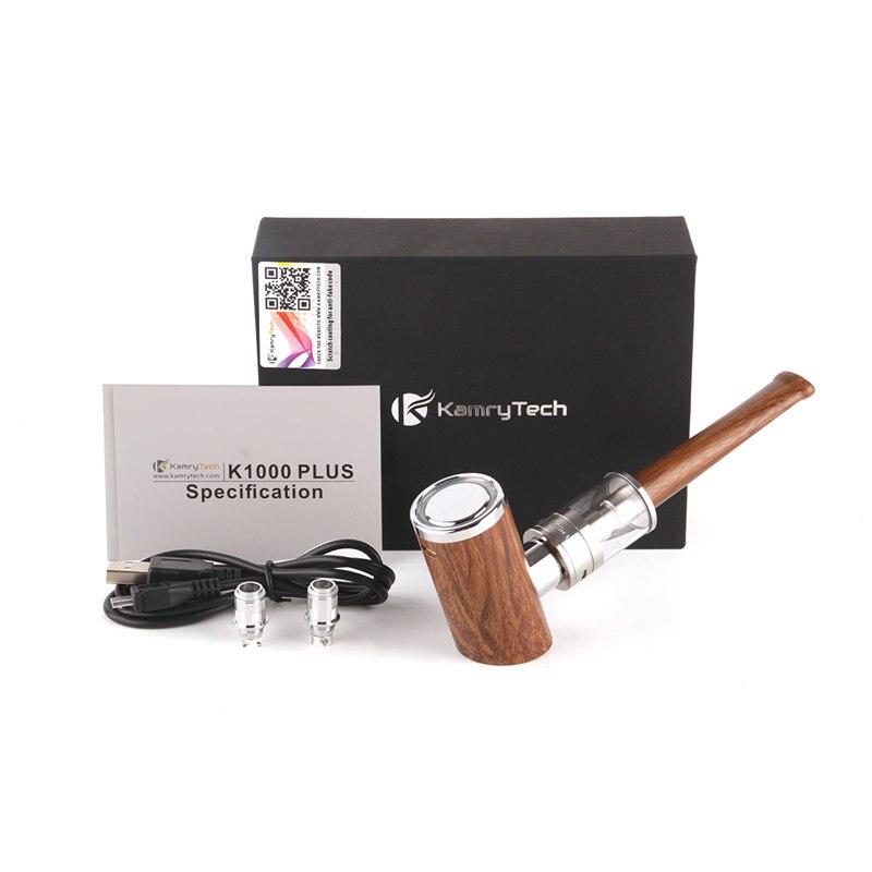 100% Original Kamry K1000 Mais E Pipe-kit 1000 mAh Vape Caneta Design De Madeira E Tubo de Cigarro Eletrônico kit vapor Hookah