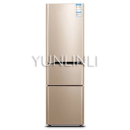 Household Three door Type Refrigerator Domestic Energy saving Refrigerator 206L Large Capacity Household Fridge BCD 206GX3S