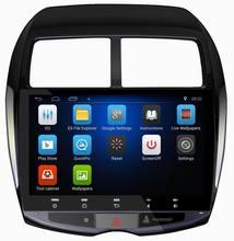 Ouchuangbo 10.1 pouce de voiture Radio GPS stéréo headunit pour Mitsubishi ASX 2013-2015 avec 3G wifi cfc usine prix android 6.0