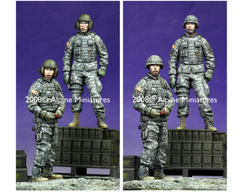 Resin Kits 1/35 Scale Modern American tank corps duo soldiers Resin Model DIY TOYS фото