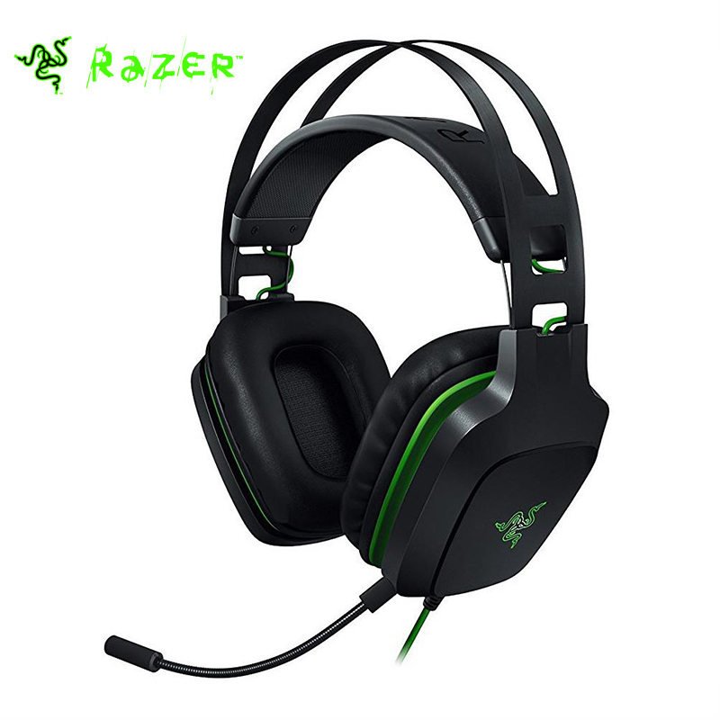 Razer Electra USB V2 Gaming Headset 7.1 eSport Gaming Headset Music Earphone Surround Sound with Detachable Mic 100% Original each g8200 gaming headphone 7 1 surround usb vibration game headset headband earphone with mic led light for fone pc gamer ps4