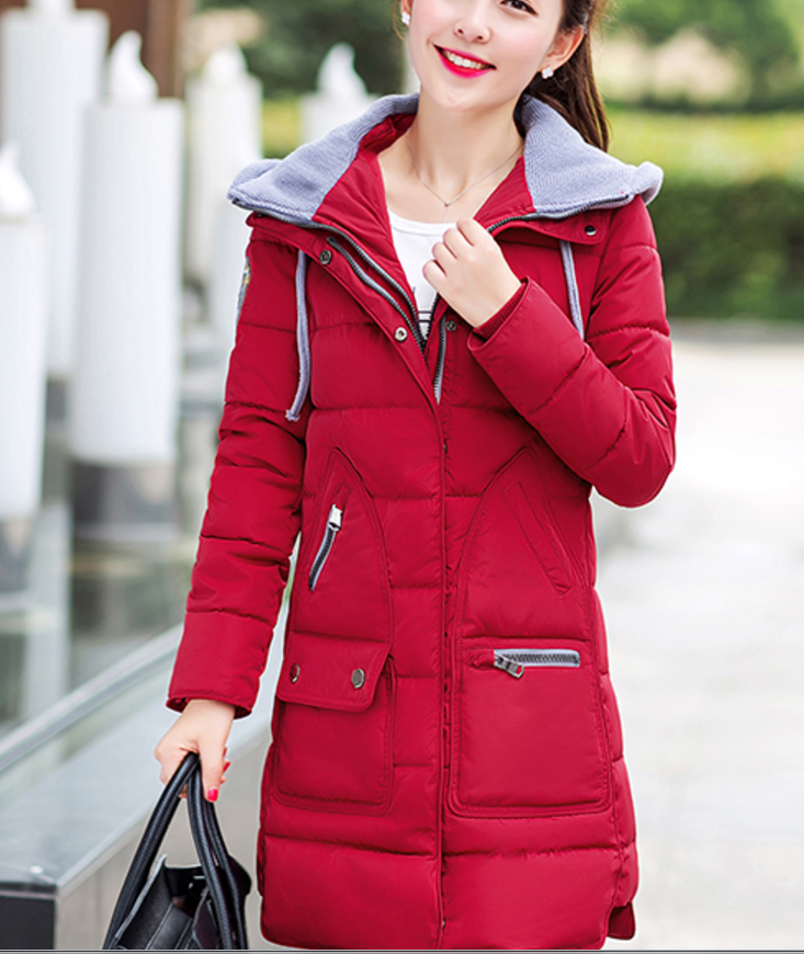 Winter New Fashion Women Coat Long sleeve Thickening Hooded Super Warm Down jacket Elegant Women Slim Big yards Loose Coat 2017 new winter fashion women down jacket hooded thickening super warm medium long coat long sleeve slim big yards parkas nz131