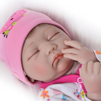 Reborn dolls 22inch 55cm bebe silicone reborn baby doll real newborn sleeping babies alive child gift toy dolls