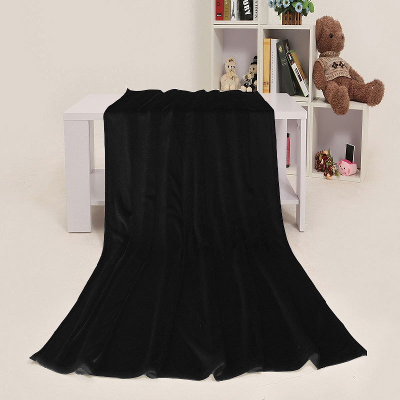 ФОТО Free Shipping 100% polyester black fleece flannel blanket knitted black blanket on the bed Mantas E Cobertores 180*200cm