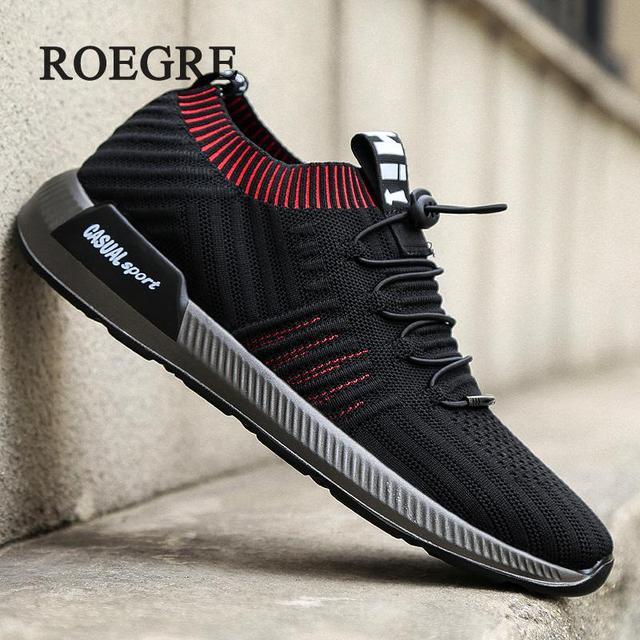 מותג קיץ גרבי גברים סניקרס Beathable רשת זכר נעליים מזדמנים לשרוך את נעליים חצאיות נעלי גרב גרב מאמני בני סופר אור