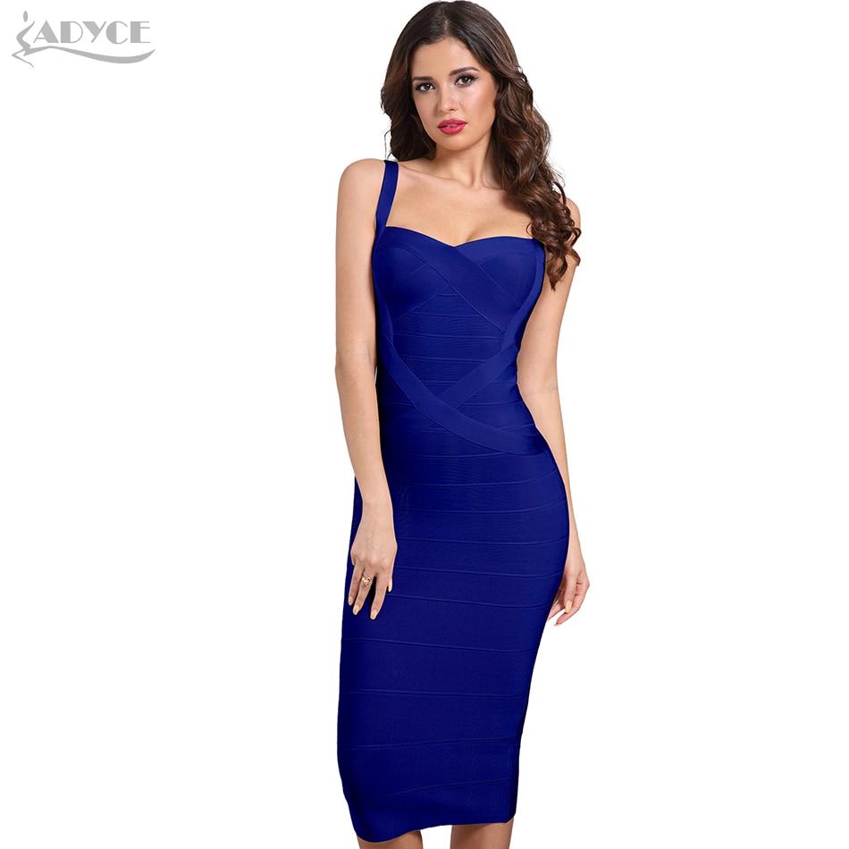 fe3d04c27b0d7 Acheter Adyce 2019 nouvelle femme Bandage robes jaune blanc rouge bleu rose  dos nu Club robe Sexy célébrité moulante robe de soirée Vestidos Pas Cher  Prix.