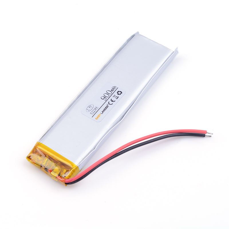 900 mah 522365 battery for dash cam 3.7 V lithium polymer battery mobile power supply tablet GPS navigator medical device