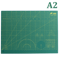A2 PVC Cutting Mat Patchwork Cut Pad Tools Board Double sided Self healing Knife Carving Mat (Green/Pink)