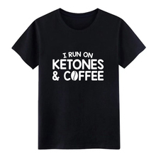 Run On Ketones Coffee Keto Diet t shirt Knitted Short Sleeve S-XXXL Original Loose Casual Spring Autumn cool