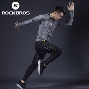 Image 2 - Спортивный костюм ROCKBROS для бега, спортивная одежда, фитнес, футболка, шорты, спортивная одежда, дышащие спортивные штаны для бега, мужские спортивные штаны