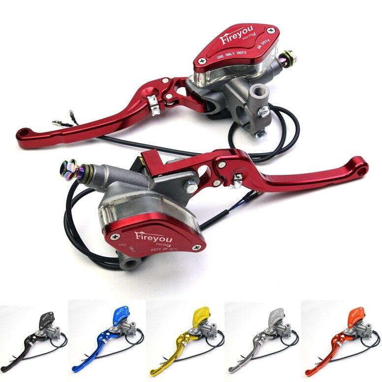 Levier poignée réglable pompe de frein d'embrayage hydraulique maître-cylindre moto course universel pour HONDA Yamaha Kawasaki frein
