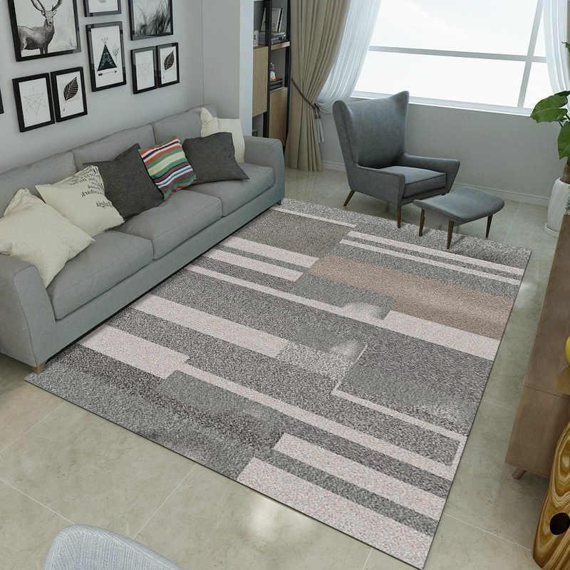 Modern Carpets For Living Room Nordic Ins Geometric Bedroom Rug