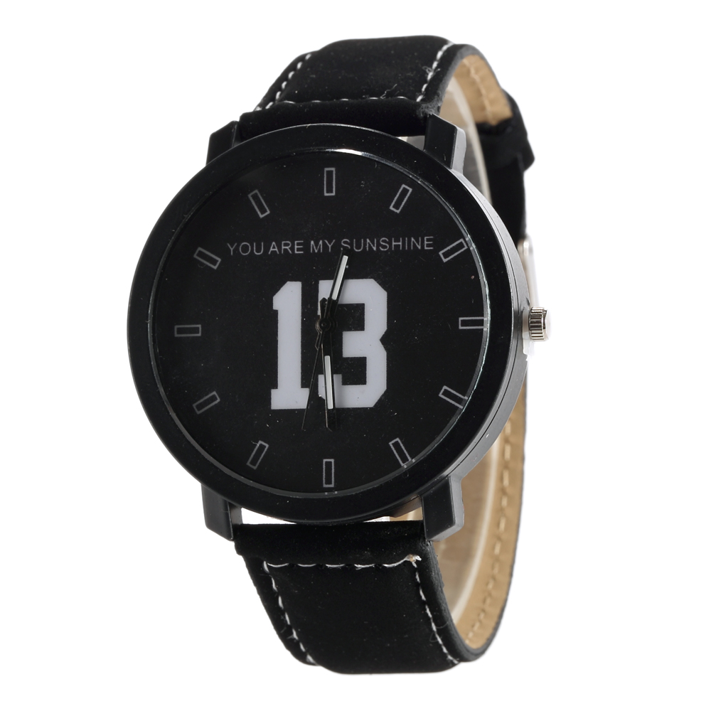 Hot New Fashion Design Brand Lovers Women Men Unisex Leather Band vintage Quartz Analog Wrist Watch relojes Gift kol saati