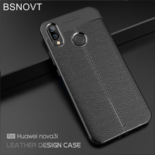 BSNOVT Huawei P Smart Plus INE-LX1 Cover Soft Silicone TPU Leather Shockproof Phone Case For Huawei Nova 3i INE-LX2 INE-LX9 three fold wallet long section of new leather embossed clutch bag purse ms bb055