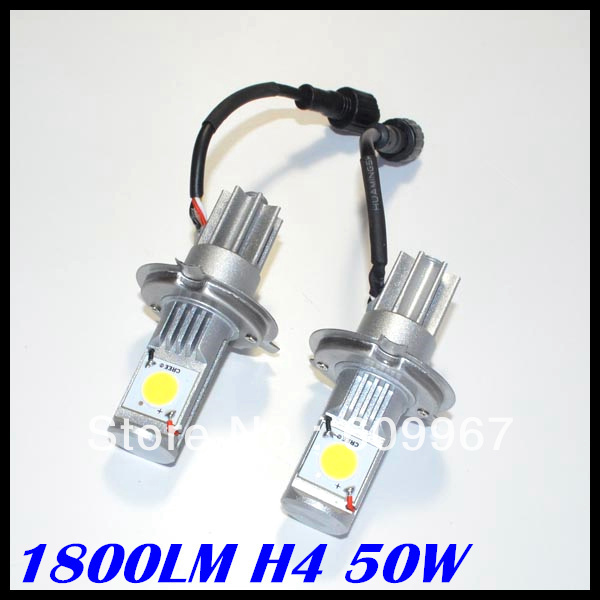 NEW product <font><b>LED</b></font> Headlight 50w Super Bright 50W 1800LM H4 9006 <font><b>hb4</b></font> <font><b>led</b></font> headlight <font><b>CREE</b></font> chips CXA1512 chips Car Auto Headlight image