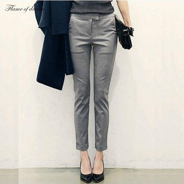 Офис Женские Брюки формальные брюки Брюки Pantalon Femme Pantalones Mujer D001