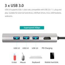 Type-C USB-C Hub Adapter Dual USB 3.0 Port Thunderbolt 3 for MacBook Pro
