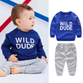 Children Boys Sports Suit Embroidery Striped Clothing Set Toddler Baby Boys Sweatshirts Outfits + Pants Set kids Tracksuit
