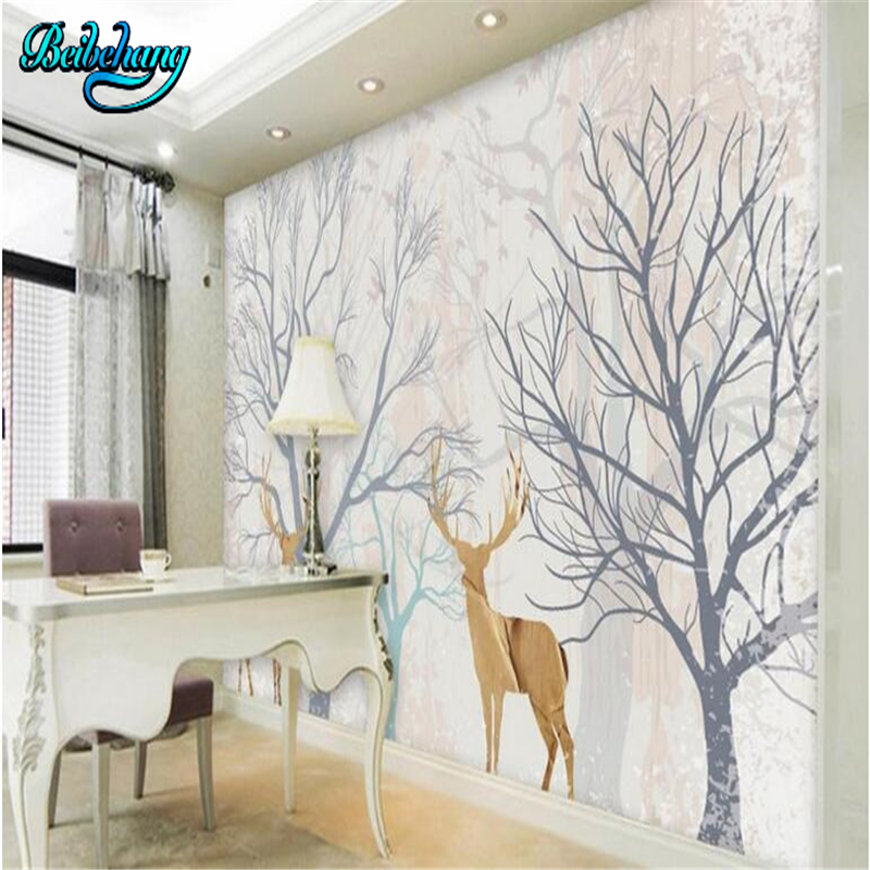 beibehang personnalis papier peint mural d coratif d 39 or. Black Bedroom Furniture Sets. Home Design Ideas