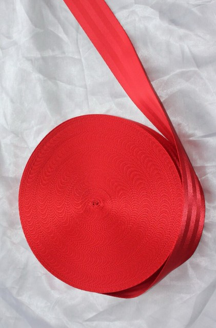 30 м Рулон Лямки Ремня безопасности Ремень Безопасности Красный Цвет 48 мм Широкий 5 Баров