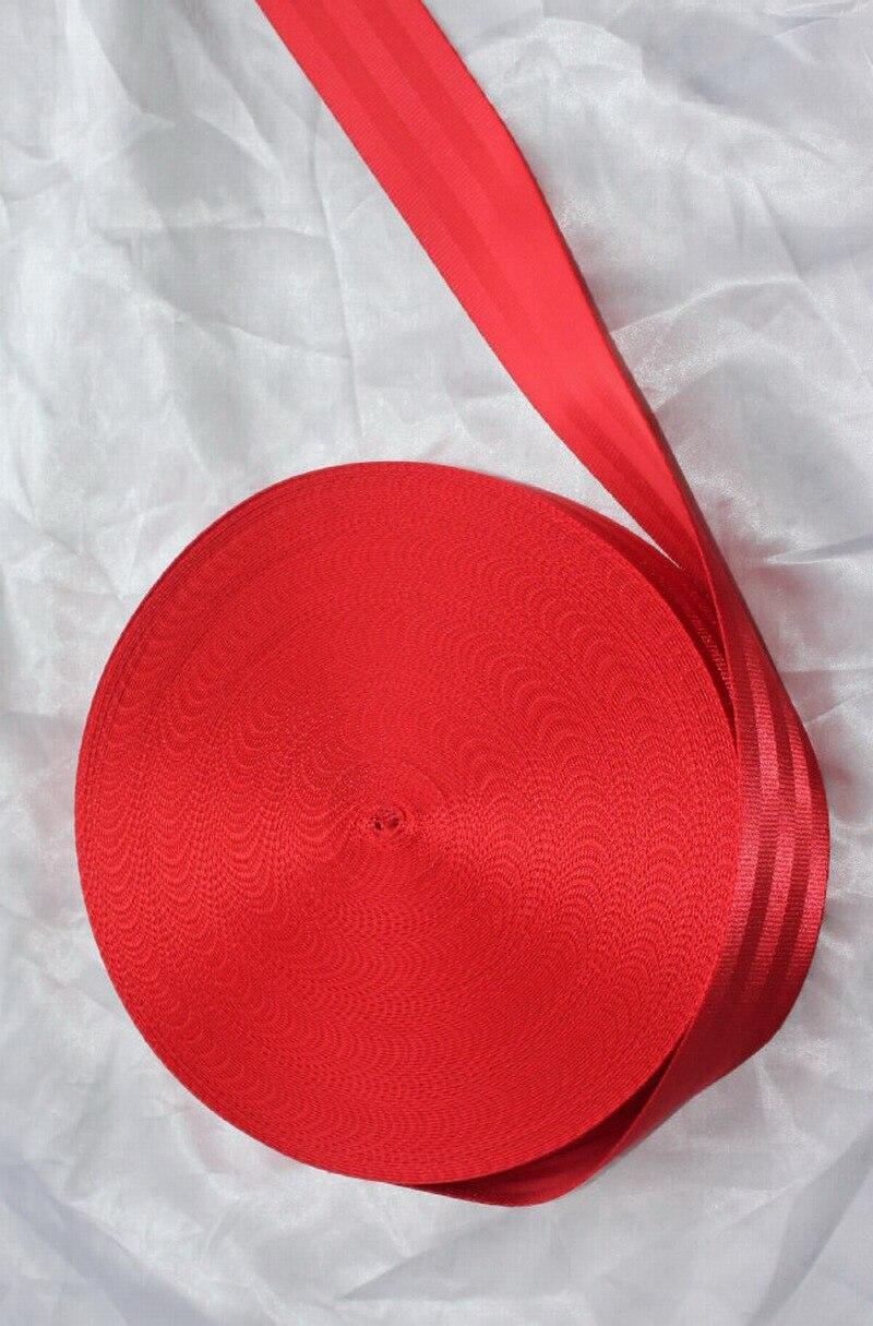 30 mètres rouleau ceinture de sécurité sangle de sécurité couleur rouge 48mm de large 5 barres