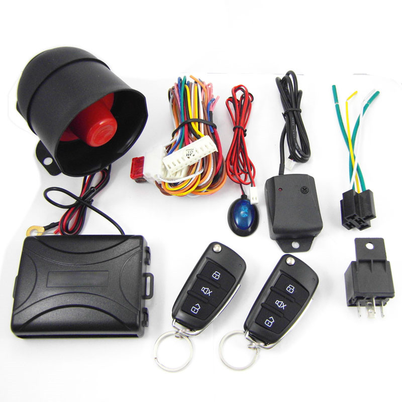 CA703 8118 One Way Remote Control Car Alarm Systems Security Key for Toyota With LED Connection