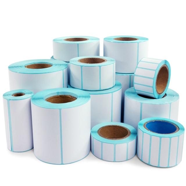 Papel fotográfico de papel de impresión térmica de 30-100mm de alta calidad para etiqueta de código de barras/etiqueta/adhesivo para impresora de etiquetas térmicas
