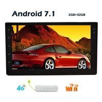 С бесплатным 4 г ключ и GPS Телевизионные антенны! Android 7.1 2 DIN Wi Fi модель без dvd плеер GPS навигации стерео транспортных средств USB/SD/Wi Fi