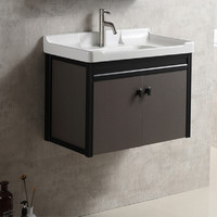 50*50*35CM ceramic bathroom cabinet bedroom furniture bathroom vanity with faucet downspouts hot and cold pipe