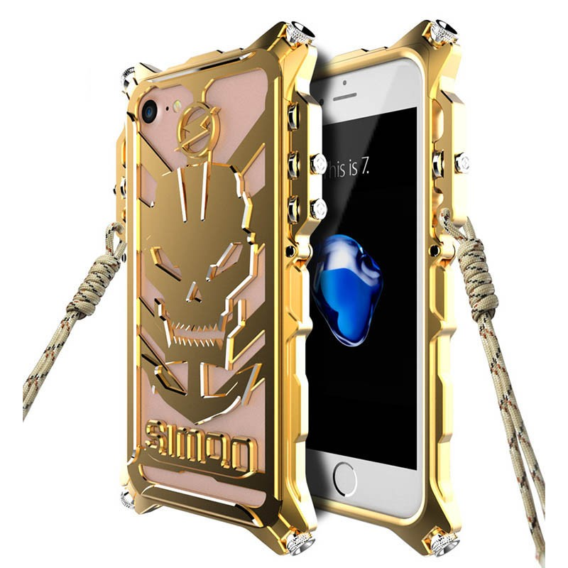 Case For iphone 7 6 6S 5 5S 5SE Plus Case Luxury Thor Shockproof Armor Cover Mechanical Arm Metal Aluminum Anti Fall Back Cover