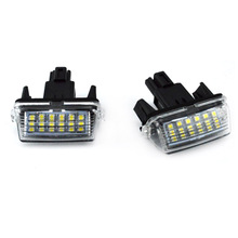 MAHAQI New 2Pcs 18-SMD LED Xenon License Plate Light Car-styling For Toyota CAMRY 2012-2015 Hot Sale
