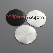 KOM 56.5mm wheel center cap sticker rims cover hub stickers for rotiform adv.1 r/t st logo car styling decoration