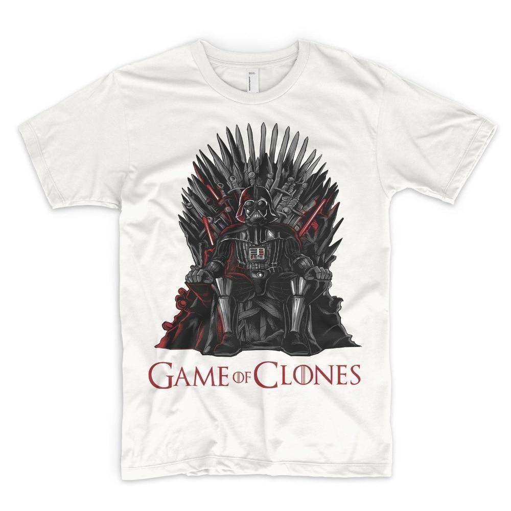 2018 Crossfit T Shirts Games Of Clones T Shirt Star Wars Parody Geek Lord Vader Jedi Sith Luke Print Summer Tops Tees