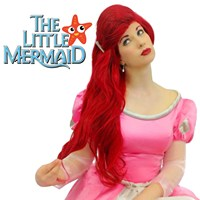 The Little Mermaid Ariel Cosplay Dark Red 70cm Long Curly Wavy Hair Deluxe Sexy Jessica Rabbit Fancy Dress Halloween Costumes