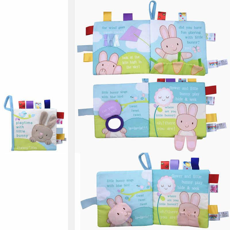 Miękkie 3D dziecko tkaniny książki noworodka wczesna edukacja cicha książka niemowlę poznawcze może ugryźć czytanie materii pierścień papieru grzechotki książki