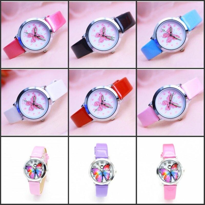 New Variety Of Butterfly Design Kids Watch Fashion Watches Quartz Children Jelly Boy Girl Student Wristwatch Relogio Kol Saati