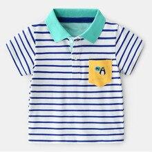 AJLONGER Polo Shirt Kids Clothes Stripes Boys Shirts Tops Cotton Summer Casual Polos Teen