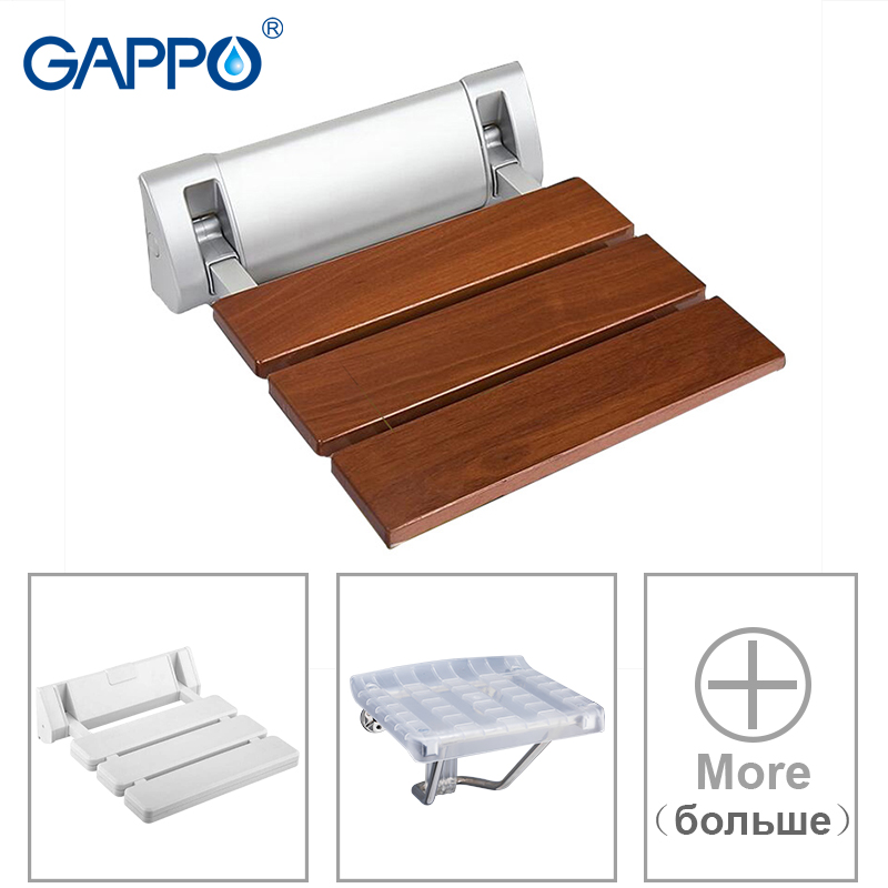 GAPPO Wall Mounted Shower Seats Bathroom Shower Chair Folding Seat Stool Child Bath Chair Shower Seat For Bathing Saving Space