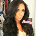 Grade 8A brazilian glueless full lace human hair wigs lace front wig for black woman