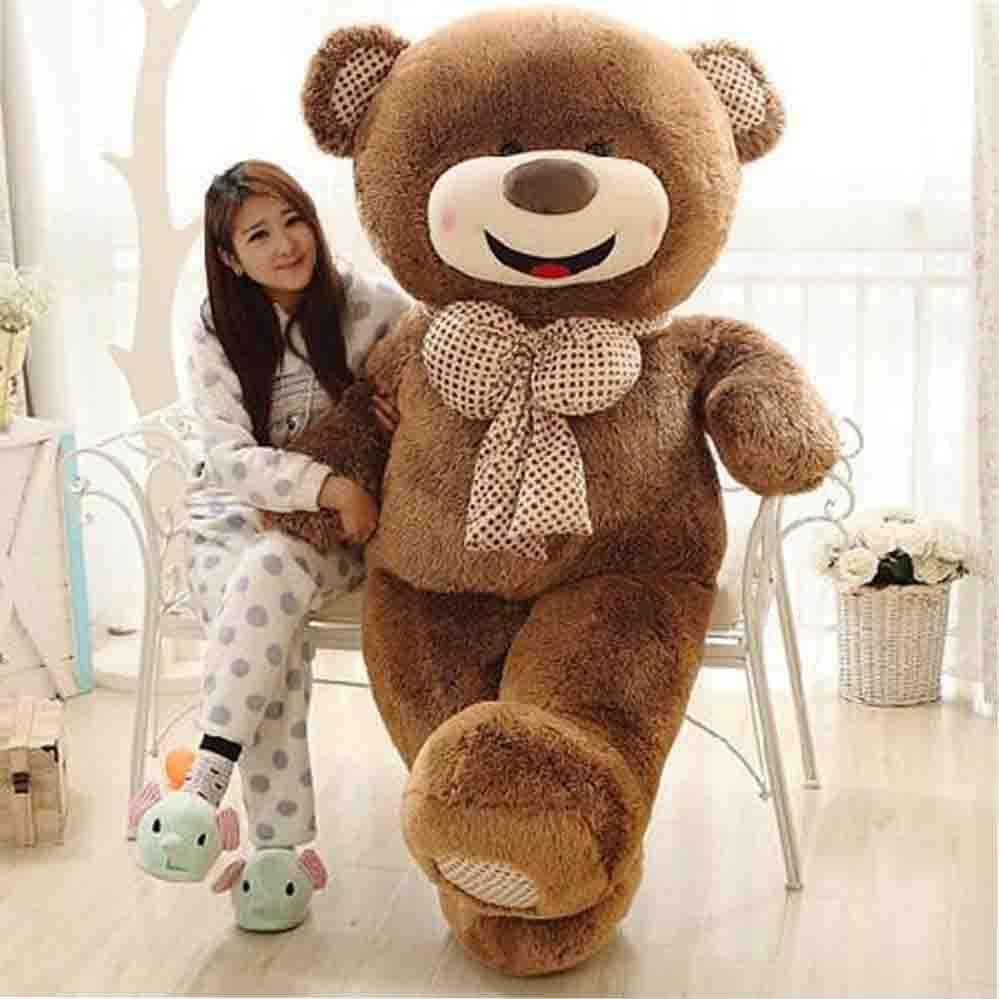 4.5 kg Plein Chaude Arrivée grande taille mignon sourire Teddy ours en peluche câlin ours cadeaux du jour de Valentine