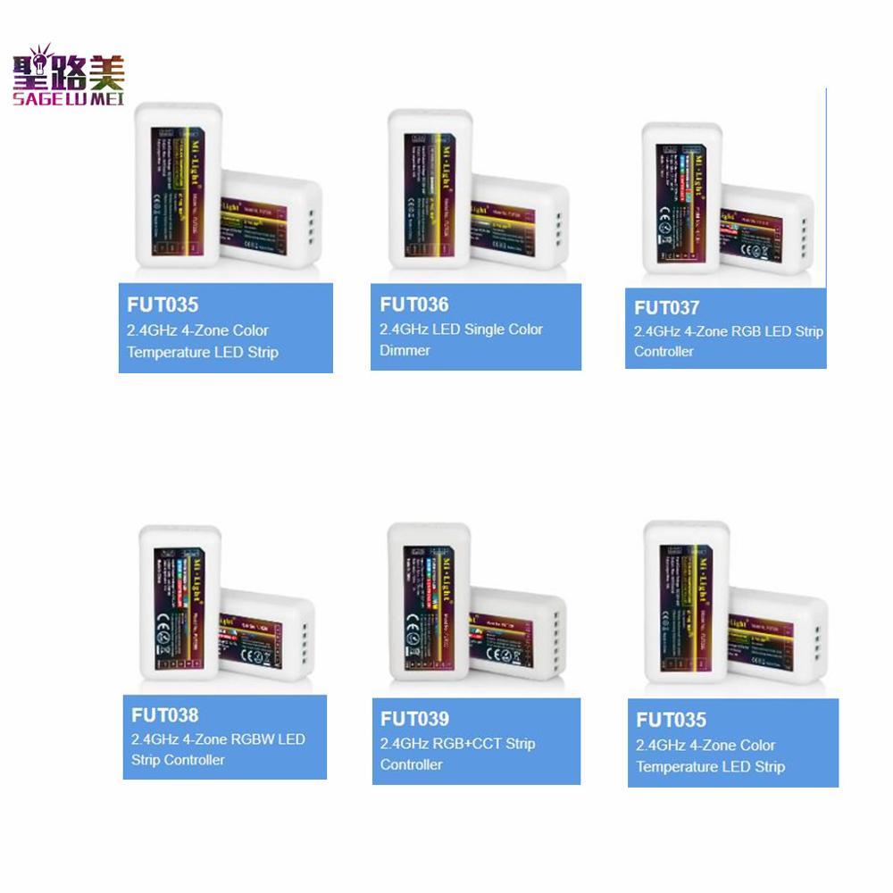 MiLight 2.4G RF FUT035 FUT036 FUT037 FUT038 FUT039 LED Controller Dimmer For Single Color CCT RGB RGBW RGB+CCT Strip Tape Light