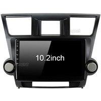 Для Toyota Highlander радио 2009 2010 2011 2012 Автомобиль Android блок видео мультимедийный плеер gps ГЛОНАСС навигационная карта аудио стерео
