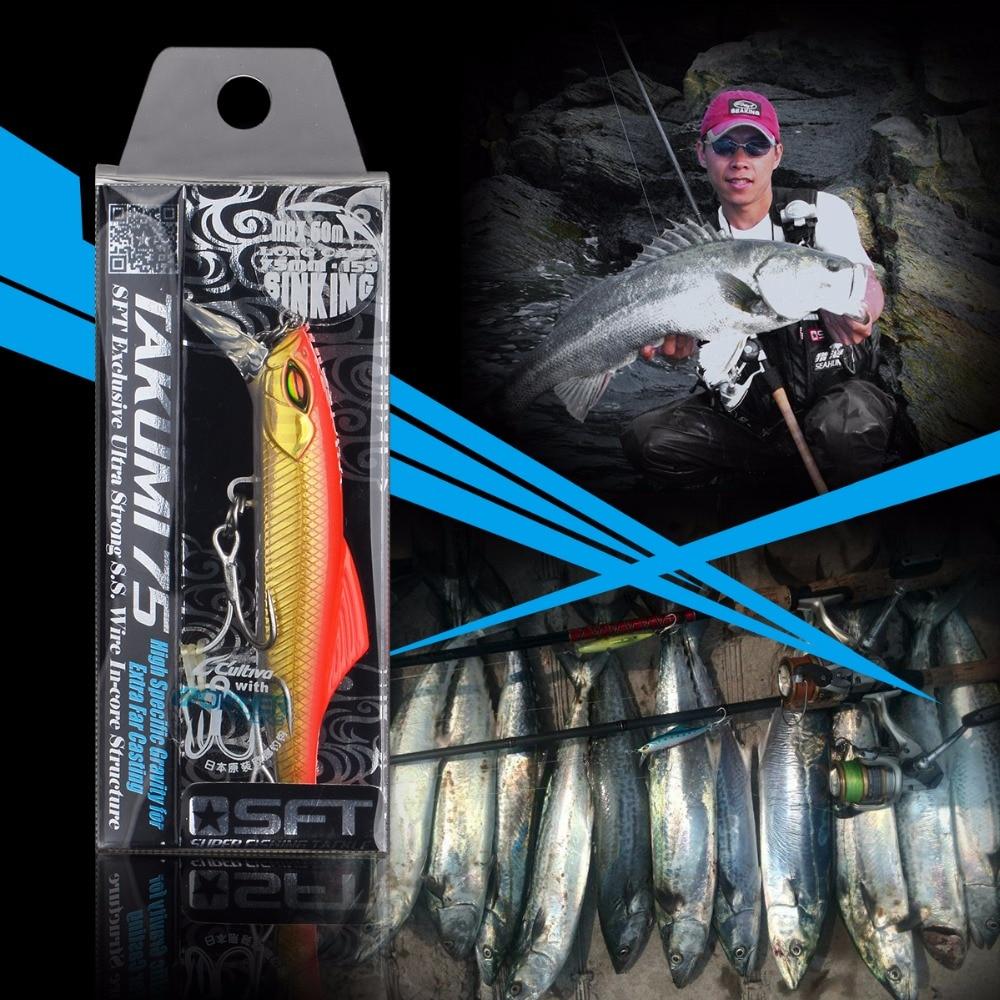 Serie de lujo Takumi 75-20 Minnow Lure Japón con bonita caja marca - Pescando - foto 4