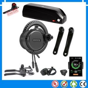 EU US No tax BBS02B BBS02 Bafang 48V 750W mid drive electric motor kit with 48V 52V 13AH 17.5Ah Li-ion down tube ebike battery(China)