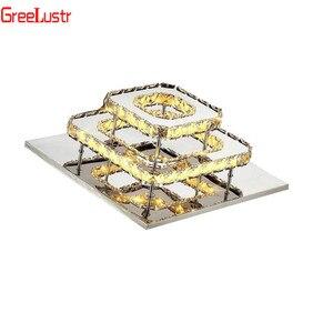 Image 5 - K9 Kristall Decke Lampe Leuchte Moderne Kronleuchter Lüster Led Plafond Für Treppen Flur Indoor Hause Decke lampen Luminaria