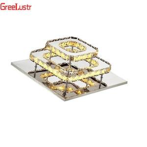 Image 5 - K9 Kristallen Plafondlamp Armatuur Moderne Kroonluchter Lustres Led Plafond Voor Trap Hal Indoor Thuis Plafond Lampen Luminaria