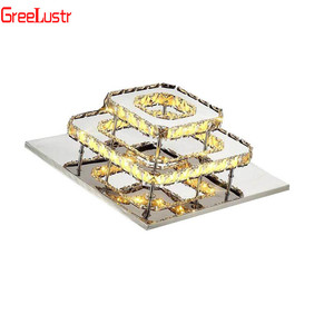 Image 5 - K9 クリスタルシーリングランプフィクスチャ現代シャンデリアlustres led飾りため階段廊下屋内ホーム天井ランプluminaria