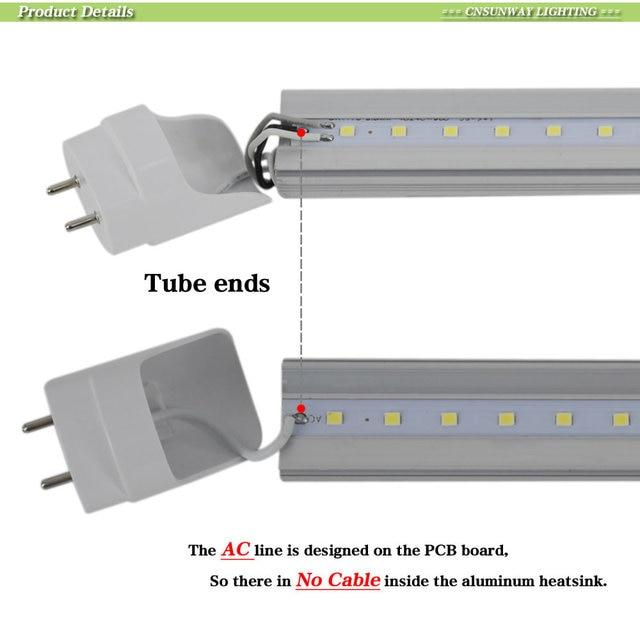CNSUNWAY   T8 4ft  tubes Light 18W  22W 1200mm 2200lm 4 foot Led Fluorescent Lamp Replace Light Tube AC 85-265V 1
