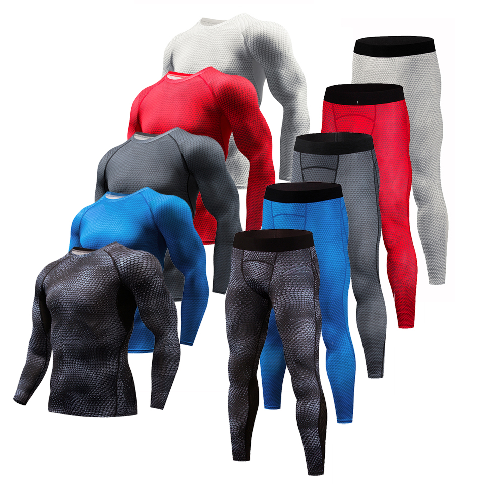 MMA Fitness Running Shirt Men Rashguard sportswear Male Long Sleeve Gym T Shirt Crossfit Bodybuilding Men